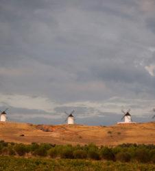 La Mancha colina molinos
