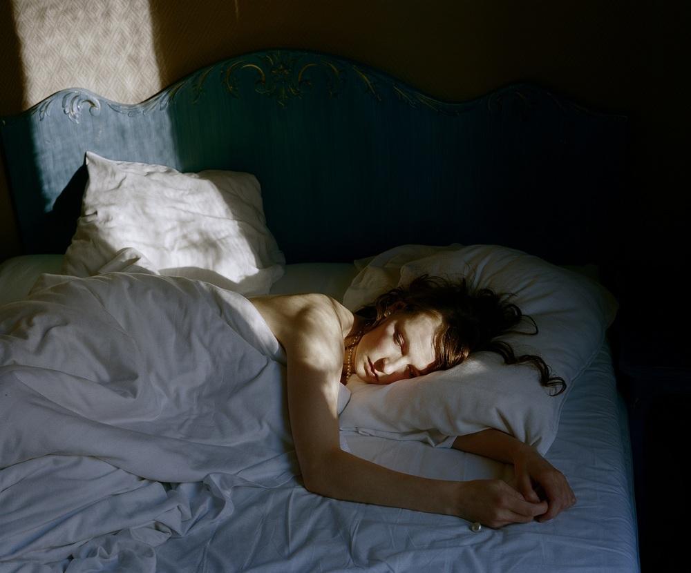 Aino Kannisto en cama